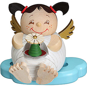 Räuchermänner Sonstige Figuren Räuchermännchen Engel mit Erzgebirgspyramide - 10cm
