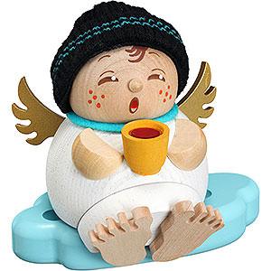 Räuchermänner Sonstige Figuren Räuchermännchen Engel mit Glühwein - 10 cm