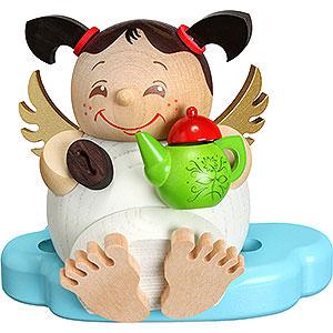Räuchermänner Sonstige Figuren Räuchermännchen Engel mit Kaffee - 10 cm