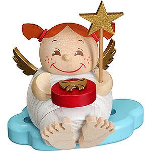 Räuchermänner Sonstige Figuren Räuchermännchen Engel mit Weihnachtsgeschenk - 12 cm