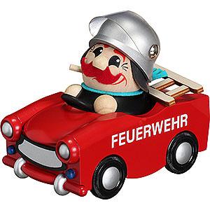 Räuchermänner Berufe Räuchermännchen Feuerwehr-Trabi  limitiert 2016 - 13cm
