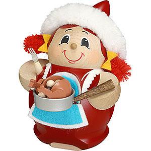 Räuchermänner Weihnachtsmänner Räuchermännchen Frau Nikolaus mit Gans - 12cm