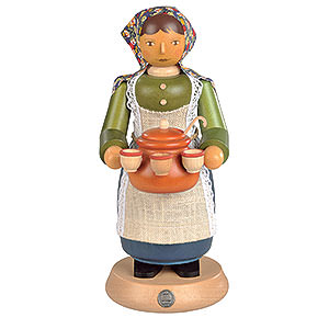 Räuchermänner Berufe Räuchermännchen Glühweinverkäuferin - 25 cm