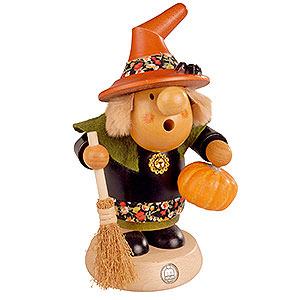 Räuchermänner Alle Räuchermänner Räuchermännchen Halloween-Hexe mit Kürbis - 11 cm
