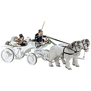 Räuchermänner Sonstige Figuren Räuchermännchen KWO Hochzeitskutsche