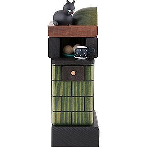 Räuchermänner Sonstige Figuren Räuchermännchen Kachelofen rauchend - Farbe: grün