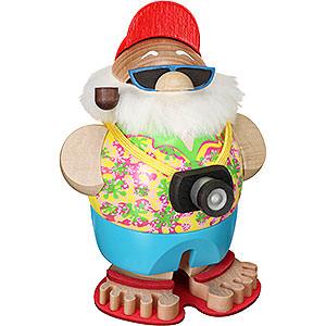 Räuchermänner Weihnachtsmänner Räuchermännchen Kugelräucherfigur Nikolaus Inkognito mit Kamera - 11 cm