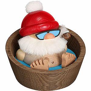 Räuchermänner Weihnachtsmänner Räuchermännchen Kugelräucherfigur Nikolaus Karl im Pool - 10cm