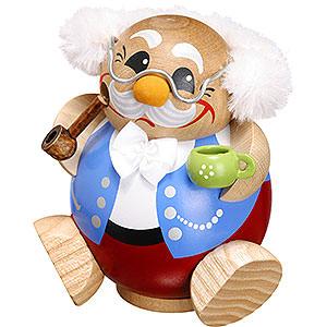 Räuchermänner Sonstige Figuren Räuchermännchen Kugelräucherfigur Pensionär - 10 cm