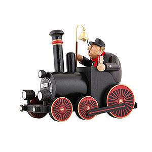 R�ucherm�nner KWO Eisenbahn R�ucherm�nnchen Lokomotivf�hrer mit Lokomotive