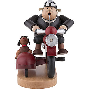 Räuchermänner Hobbies Räuchermännchen Motorradfahrer mit Beiwagen - 21 cm