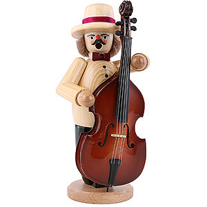 Räuchermänner Berufe Räuchermännchen Musikant mit Bass - 23cm