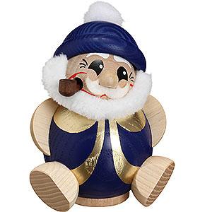 Räuchermänner Weihnachtsmänner Räuchermännchen Nikolaus blau-gold - 11 cm