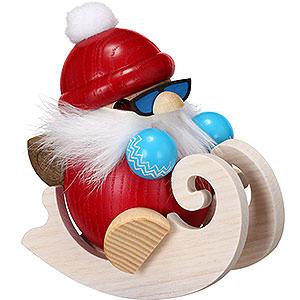 Räuchermänner Weihnachtsmänner Räuchermännchen Nikolaus fährt Schlitten - 12 cm