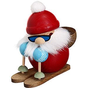 Räuchermänner Weihnachtsmänner Räuchermännchen Nikolaus läuft Ski - 10 cm