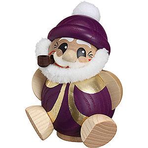 Räuchermänner Weihnachtsmänner Räuchermännchen Nikolaus purpur-gold - 11cm