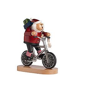 R�ucherm�nner Weihnachtsm�nner R�ucherm�nnchen Radfahrer Weihnachtsmann - 23cm