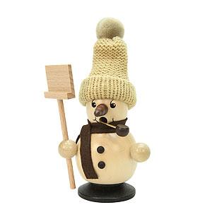 Räuchermänner Schneemänner Räuchermännchen Schneebub mit Schneeschippe natur - 12cm