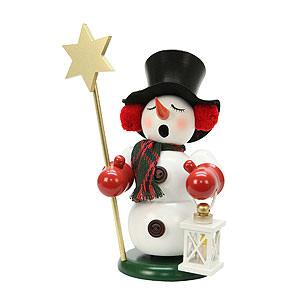 R�ucherm�nner Schneem�nner R�ucherm�nnchen Schneemann Sternentr�ger - 23cm