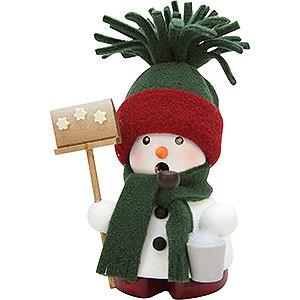 R�ucherm�nner Schneem�nner R�ucherm�nnchen Schneemann gr�n - 12,5cm