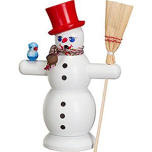 Räuchermänner Schneemänner Räuchermännchen Schneemann mit rotem Hut - 16 cm