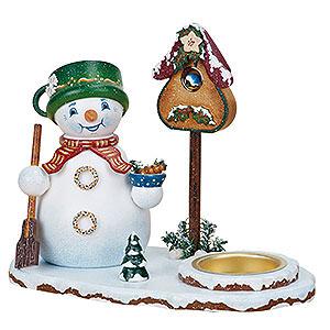 R�ucherm�nner Schneem�nner R�ucherm�nnchen Schneemannwichtel mit Teelicht - 14cm