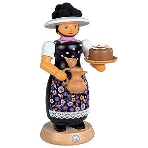 R�ucherm�nner Sonstige Figuren R�ucherm�nnchen Schwarzwaldfrau mit rauchender Kanne - 25cm