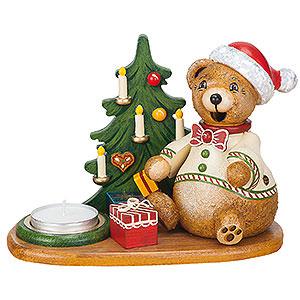 Räuchermänner Tiere Räuchermännchen Teddys Weihnachtsgeschenke mit Teelicht - 14 cm