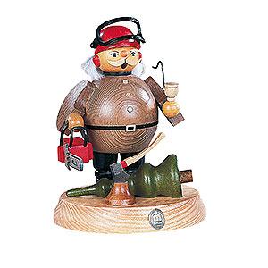 R�ucherm�nner Berufe R�ucherm�nnchen Waldarbeiter mit Motors�ge - 18cm