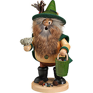 Räuchermänner Sonstige Figuren Räuchermännchen Waldwichtel Erzsammler, grün - 25cm