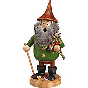 Räuchermänner Sonstige Figuren Räuchermännchen Waldwichtel Kräuterwichtel grün, Hut braun - 15 cm