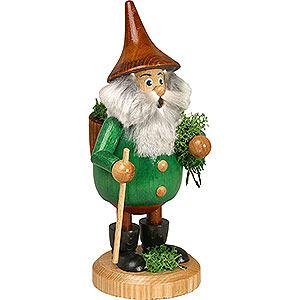 Räuchermänner Sonstige Figuren Räuchermännchen Waldwichtel Moosmann grün, Hut braun - 15 cm