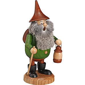 Räuchermänner Hobbies Räuchermännchen Waldwichtel Wanderer grün, Hut braun - 15 cm