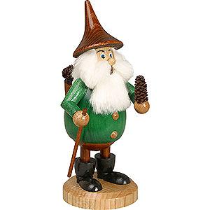 Räuchermänner Alle Räuchermänner Räuchermännchen Waldwichtel Zapfenmann grün, Hut braun - 15 cm
