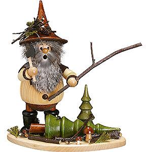 Räuchermänner Sonstige Figuren Räuchermännchen Waldwichtel auf Brett Waldarbeiter - 26 cm