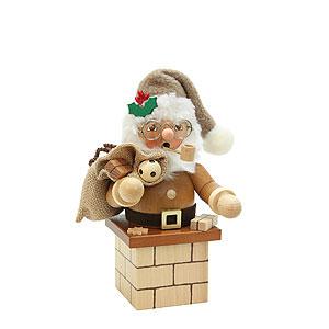 Räuchermänner Alle Räuchermänner Räuchermännchen Weihnachtsmann auf Kamin natur - 18,5cm