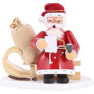 Räuchermänner Weihnachtsmänner Räuchermännchen Weihnachtsmann auf Schlitten - 15 cm