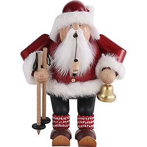 Räuchermänner Weihnachtsmänner Räuchermännchen Weihnachtsmann auf Skier - 20cm