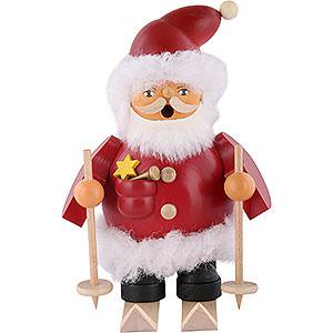 Räuchermänner Weihnachtsmänner Räuchermännchen Weihnachtsmann auf Skiern - 14 cm