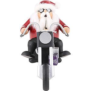 Räuchermänner Hobbies Räuchermännchen Weihnachtsmann auf Trike - 15cm