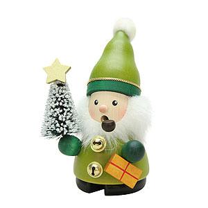 Räuchermänner Weihnachtsmänner Räuchermännchen Weihnachtsmann grün - 12cm
