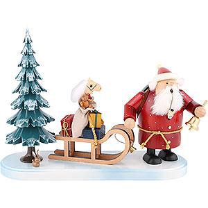 Räuchermänner Weihnachtsmänner Räuchermännchen Weihnachtsmann kommt - 21 cm