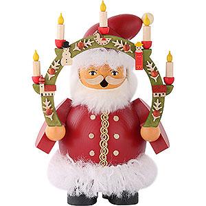 Räuchermänner Weihnachtsmänner Räuchermännchen Weihnachtsmann m.Kerzenbogen - 14 cm