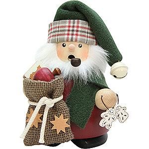 Räuchermänner Weihnachtsmänner Räuchermännchen Weihnachtsmann mit Sack - 13,5cm