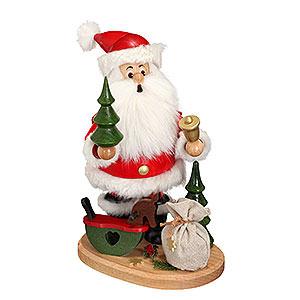 Räuchermänner Weihnachtsmänner Räuchermännchen Weihnachtsmann mit Schaukelpferd - 22 cm