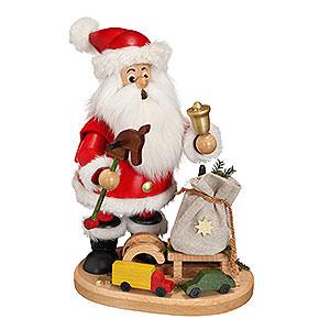 Räuchermänner Weihnachtsmänner Räuchermännchen Weihnachtsmann mit Steckenpferd - 22cm
