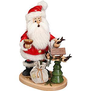 Räuchermänner Weihnachtsmänner Räuchermännchen Weihnachtsmann mit Vogelhaus - 22cm