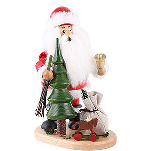 Räuchermänner Weihnachtsmänner Räuchermännchen Weihnachtsmann mit Weihnachtsbaum - 22cm