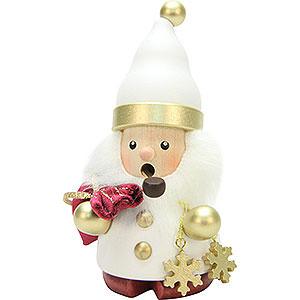 Räuchermänner Weihnachtsmänner Räuchermännchen Weihnachtsmann weiß/gold - 12,5cm