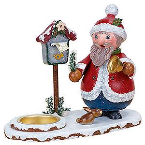 Räuchermänner Weihnachtsmänner Räuchermännchen Weihnachtswichtel mit Teelicht  - 14cm